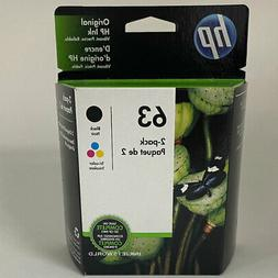 HP 63 Genuine Black Color Ink Cartridges Combo 2 Pack New F6