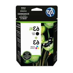 HP 63XL / 63 TRI-COLOR NEW GENUINE VALUE PACK INK CARTRIDGES
