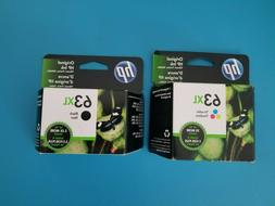 HP #63XL Black and Tri-Colors. New