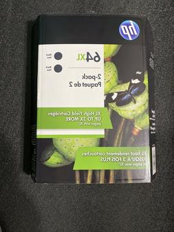 Hp 64 XL 2- Pack Genuine Black Ink Exp: JUN 2021