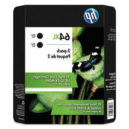 HP 64XL  Black Ink Cartridge - 2 Pack