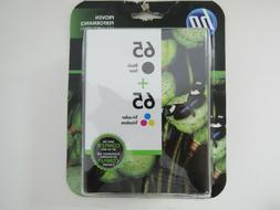 HP 65 / 65 BLACK & TRI-COLOR NEW GENUINE COMBO INK CARTRIDGE