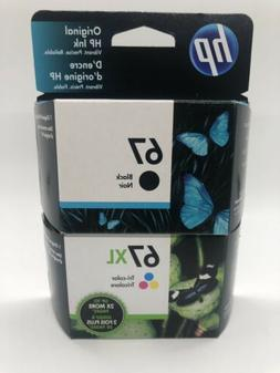 HP 67/67XL Black/Tri-color Ink Cartridges, Pack Of 2 Cartrid