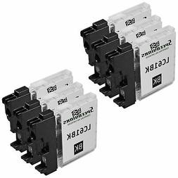 6pk For Brother LC61Bk Black for DCP MFC Printers LC61 Serie