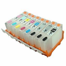 8pk empty refillable ink cartridges cli 42