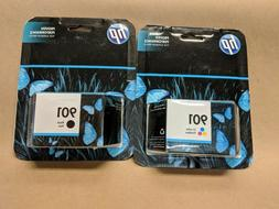 HP 901 black and tri-color set, new,  sealed read details on