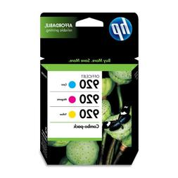 HP 920 Cyan, Magenta & Yellow Original Ink Cartridges, 3 pac