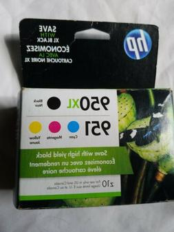 HP 950XL/951 Combo Pack Ink Cartridge, Black/Cyan/Magenta/Ye