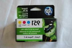 HP - 951 3-Pack - Ink Cartridges - Cyan/Magenta/Yellow    NE