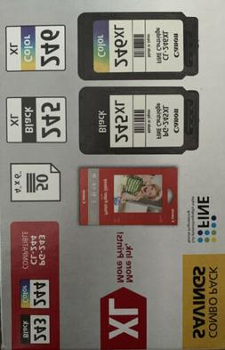 Canon PG-245XL/CL-246XL Ink/Photo Paper Pack, Compatible to