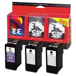 Lexmark 32/32/33 18C1517 Black/Black/Color Ink Cartridge, Tr