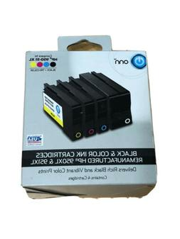 ONN Black And Color Ink Cartridges Remanufactured HP 950XL A