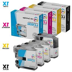 Brother Compatible LC103 Set of 4 Ink Cartridges: 1 each of
