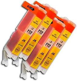 CLI571 Yellow 4 Ink Cartridges For Canon Pixma MG6850 MG6851