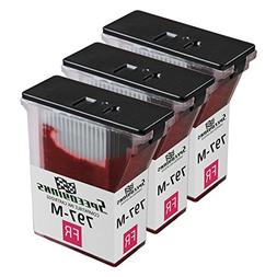 Speedy Inks - 3pk Compatible Pitney Bowes 797-M Fluorescent