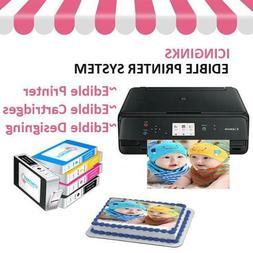 Edible Bundle with Canon Printer, 5 Edible Ink Cartridges an