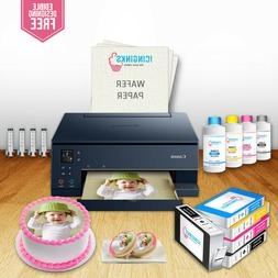 Edible Printer, 5 Cartridges, 50 Wafer Papers, Refill Bottle