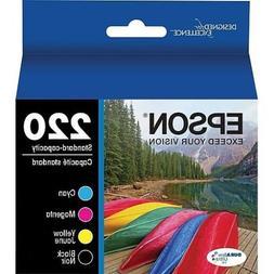 Epson GENUINE 220 Black & Color Ink Cartridges- RETAIL BOX -