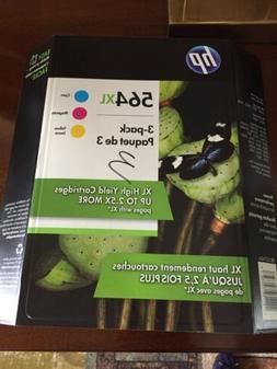 Genuine HP 564 XL Photosmart 7520/7525 combo packs - Color