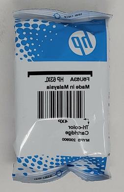 Genuine HP 63XL Tri-Color Ink Cartridge in Foil Bag