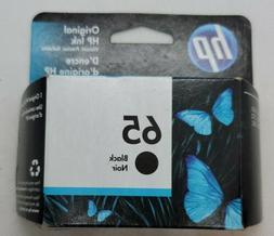 Genuine HP 65 Black Ink Cartridge Retail Box 2622 2624 2632