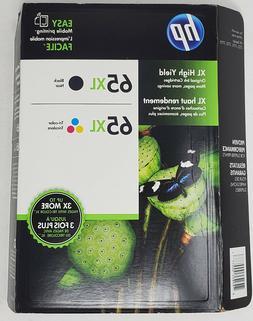 Genuine HP 65XL Black / Tri-Color Ink Cartridges in Retail B