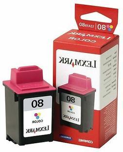 GENUINE Lexmark 80 Colour 12A1980 Ink Cartridge 3200 5000 57