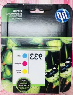 Genuine HP 933 Combo 3-Pack Color Ink Cartridges - Cyan Mage