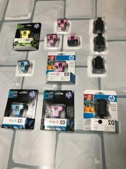 HP Genuine Ink Lot Of 12 Genuine 02 COLOR INK 02 W Bonus 02