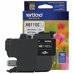 Brother Genuine LC3011BK Standard-yield Black Ink Cartridge