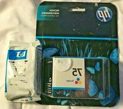 GENUINE NEW HP 75 & 75XL Expired Tri Color Ink Cartridges