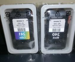 GENUINE CANON PG-240 BLACK & CL-241 COLOR INK CARTRIDGES for