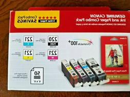 GENUINE CANON  Printer Ink PGI-220/CLI-221 Combo Ink Pack wi