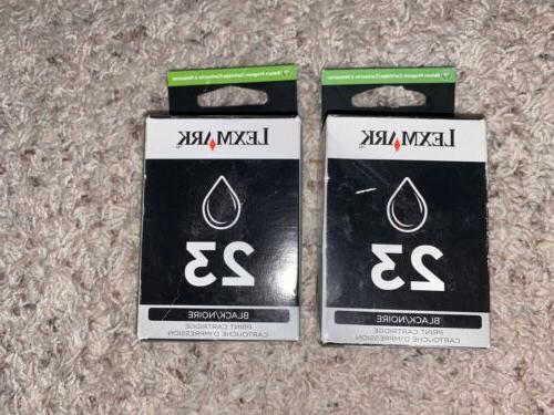 23 ink cartridges black 2 pack 2x