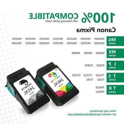 2pk Printer Black For Canon 210 XL 245XL