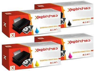 4 toner cartridge set compatible with brother