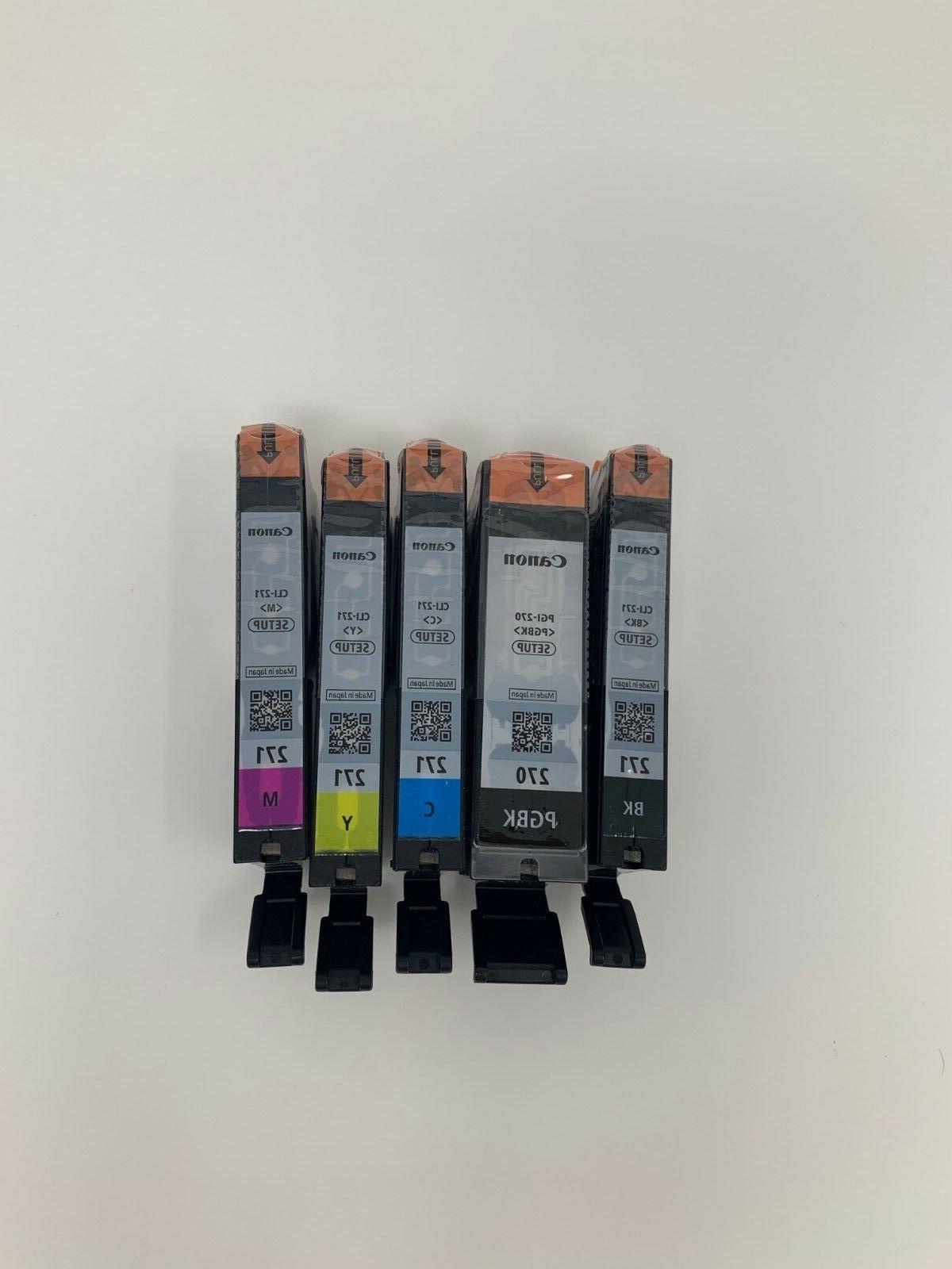 5 genuine 270 271 setup ink cartridges