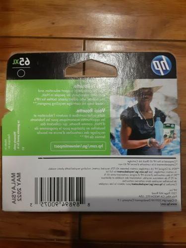 HP 65XL Black Original HP Ink Cartridge N9K04AN Exp. 2021. New!