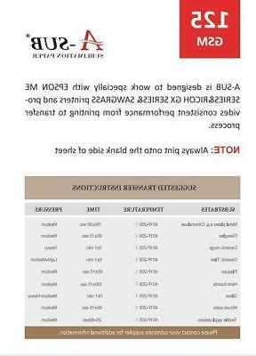 A-SUB Sheet 8.5x11 Dye 125g Transfer Paper