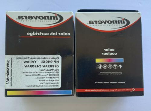 color ink cartridge for hp 940xl yellow
