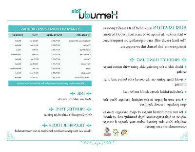 Hemudu Sheets Dye Heat Transfer Paper