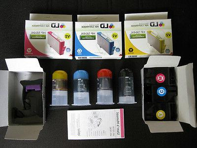 hp color ink cartridges and refill kit