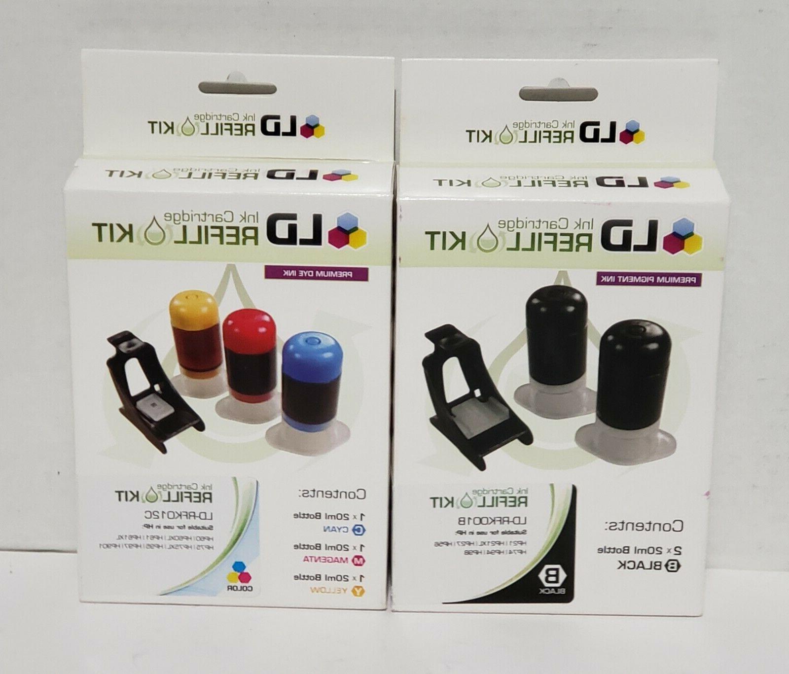 ink cartridge refill kit rfk012c tricolor rfk001b