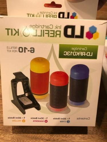 ink cartridge refill kit rfk013c tricolor new