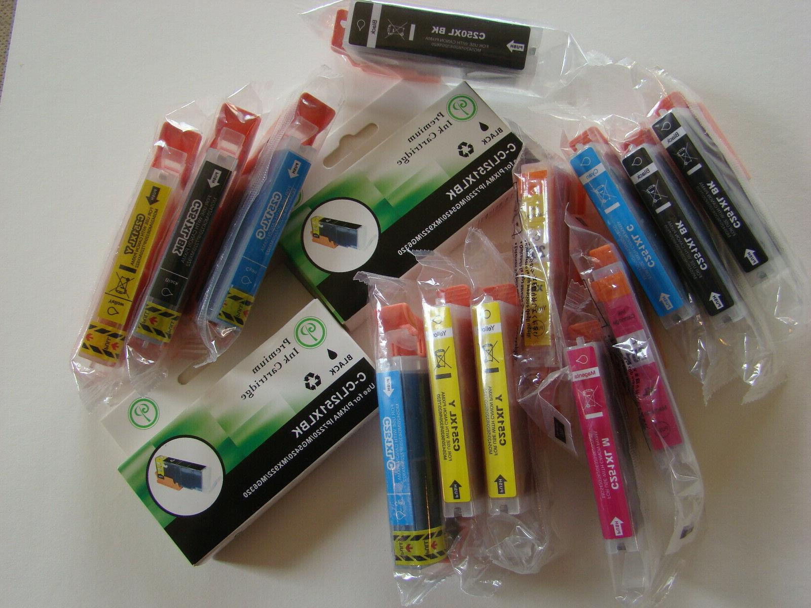 lot of 15 ink cartridges 250xl 251xl