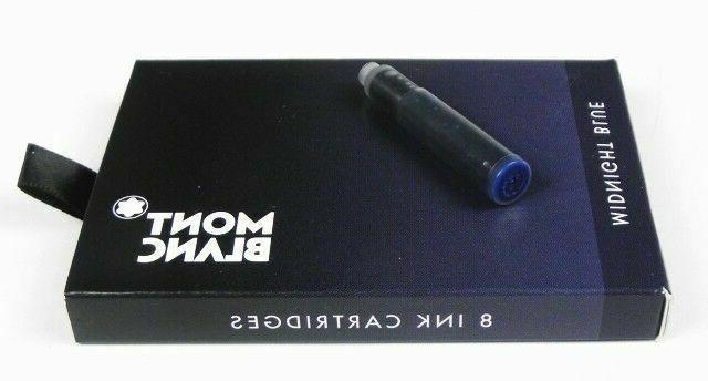 midnight blue 8 fountain pen ink cartridges