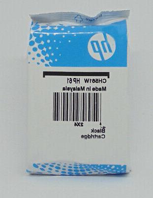new 61 black ink cartridge ch561wn genuine