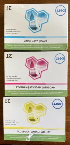 series 31 magenta cyan yellow ink cartridges