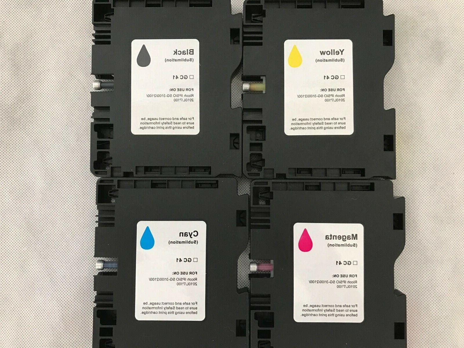 transfer sublimation ink cartridges for ricoh aficio