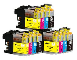 Ink Cartridges works for LC103 LC101 Brother MFC-J4710DW MFC